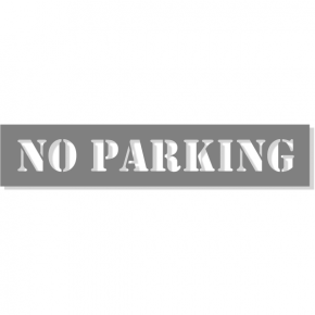 "NO PARKING Mylar Stencil | 2"" x 10"""