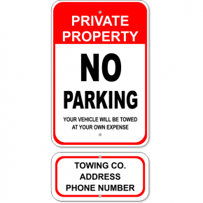 No Parking Tow Sign Bundle