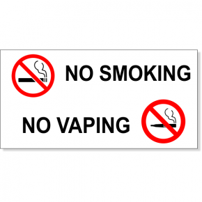 NO SMOKING NO VAPING with Symbols Vinyl Decal