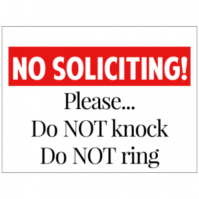 Please Do Not Knock Do Not Ring Yard Sign