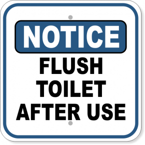 Flush Toilet After Use Sign