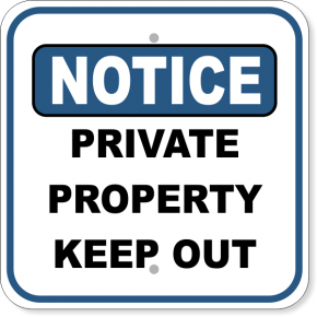 "Notice Private Property Aluminum Sign | 12"" x 12"""