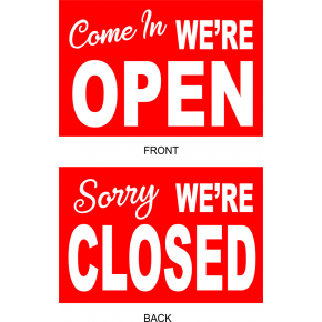 Open Closed Vinyl Sign