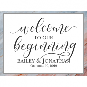 Personalized Marble Wedding Welcome Sign