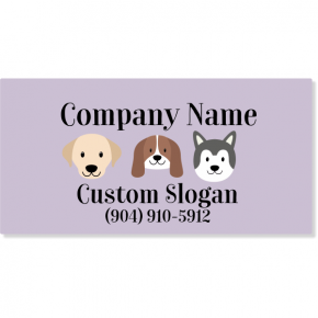 Pet Grooming Magnetic Sign | Set of 2