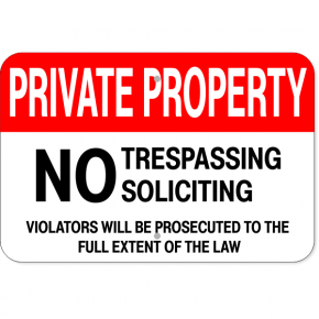 "Private Property Aluminum Sign | 12"" x 18"""