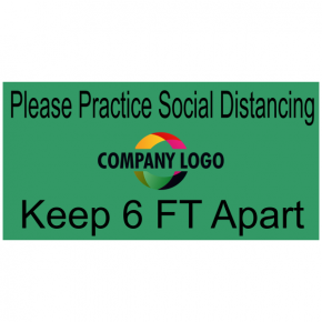 Rectangle Floor Decal for Social Distancing with your own Logo