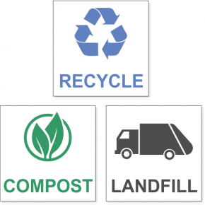 Recycle / Compost / Landfill Decal Pack