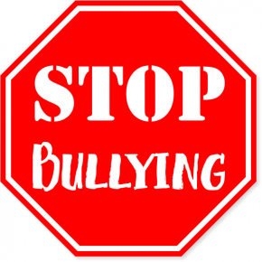 "Red Stop Bullying Vinyl Decal | 6"" x 6"""