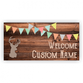 Rustic Baby Boy Shower Banner - 3' x 6'