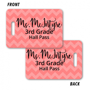 School Bathroom Pass -  Chevron Pattern