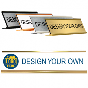 Desk Plate 2 x 8 with Left Logo