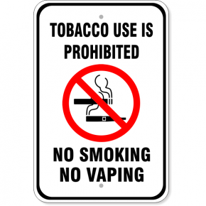 "Tobacco Use Prohibited Aluminum Sign | 18"" x 12"""