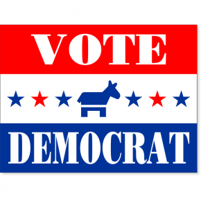 "Vote Democrat Stars Yard Sign | 18"" x 24"""