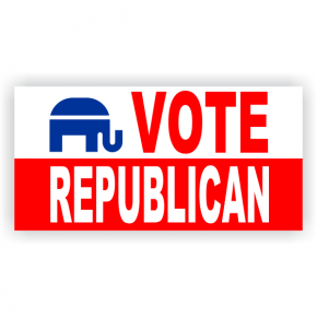 Vote Republican Banner | 2' x 4'