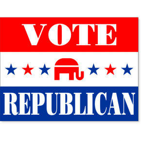 "Vote Republican Stars Yard Sign | 18"" x 24"""