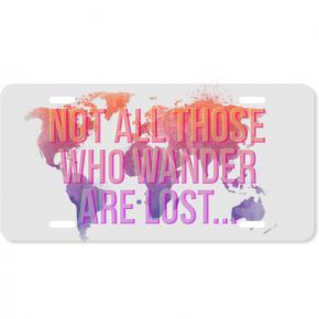 Wanderlust License Plate w Ombre Gradient