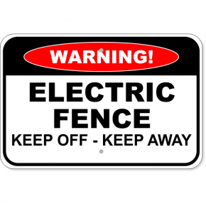 "Warning Electric Fence Aluminum Sign | 12"" x 18"""