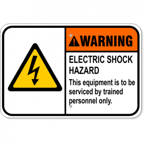 "Warning Electric Shock Hazard Aluminum Sign | 12"" x 18"""