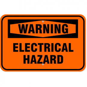 "Warning Electrical Hazard Aluminum Sign | 12"" x 18"""