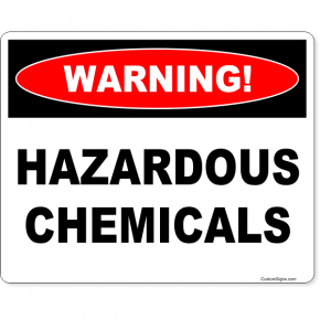 "Warning Hazardous Chemicals Full Color Sign | 8"" x 10"""