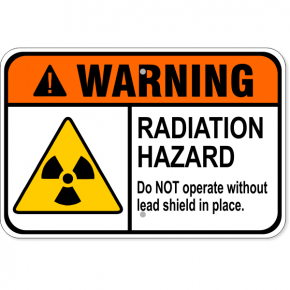 "Warning Radiation Hazard Aluminum Sign | 12"" x 18"""