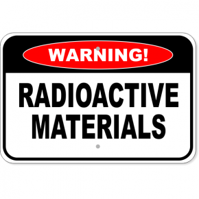 "Warning Radioactive Materials Aluminum Sign | 12"" x 18"""