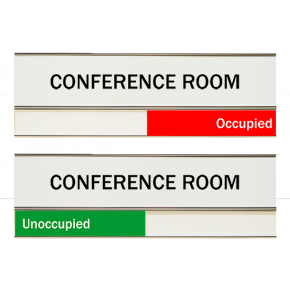 "White Conference Room Slider Signs 3"" x 8"""