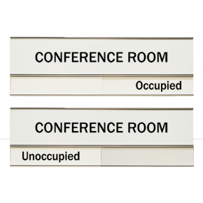 White Conference Slider Sign