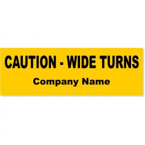 "Wide Turn Bumper Sticker | 3"" x 10"""