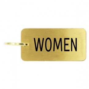 Women's Restroom Brass Key Chain