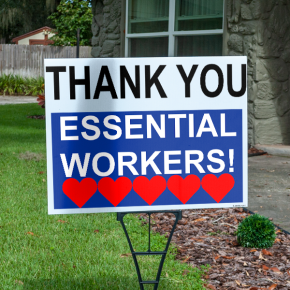 Thank You Essential Workers Appreciation Yard Sign