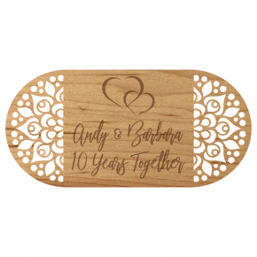 "Years Together Fancy Wooden Anniversary Sign | 6"" x 12"""