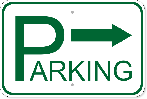 "Parking Right Aluminum Sign | 12"" x 18"""