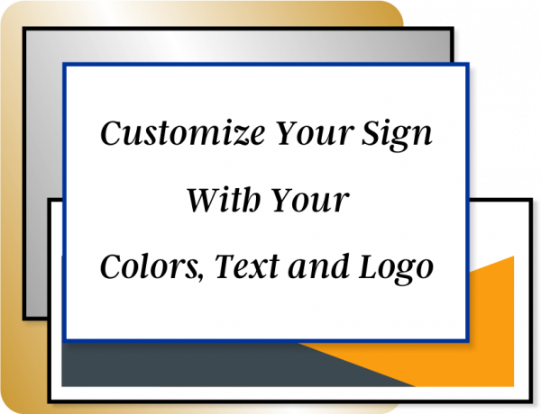 Color Sign Vertical 18 in x 4 in