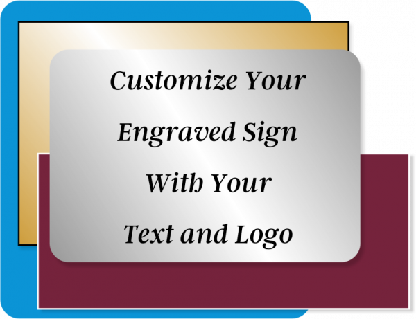 Engraved Sign Horizontal 1 in x 22 in