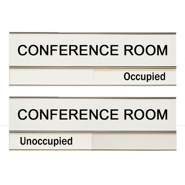 Conference Room Unoccupied Occupied 3 X 8 Slide Sign