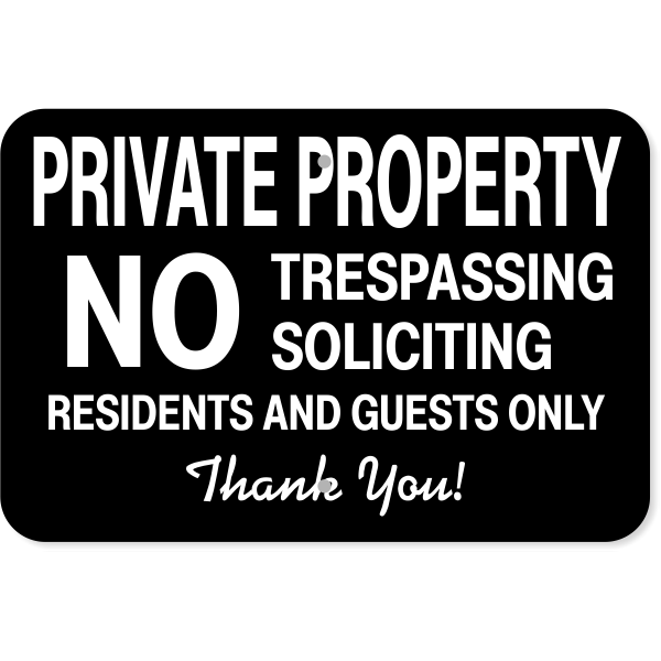 """Residents & Guests Only Aluminum Sign   12"""" x 18"""""""
