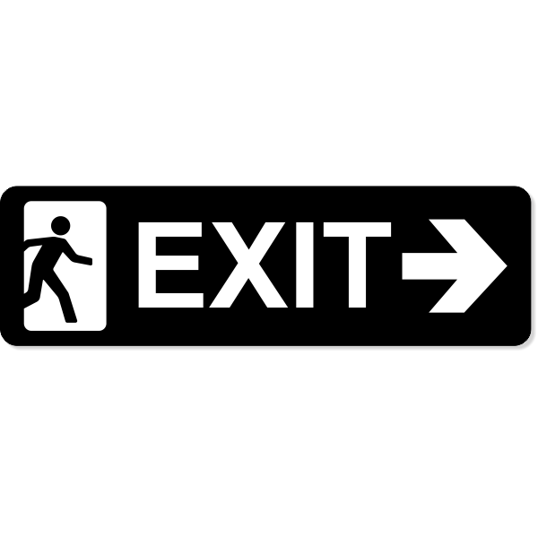 """Exit Right Sign 