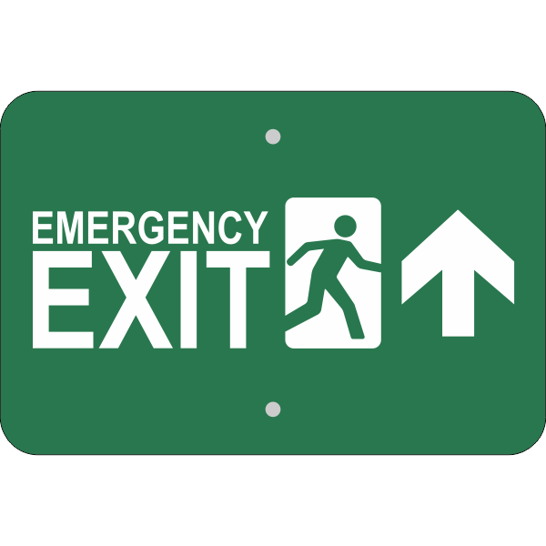 Horizontal Forward Arrow Emergency Exit Sign
