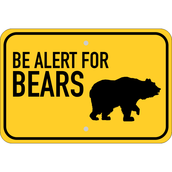 Horizontal Alert For Bears Sign