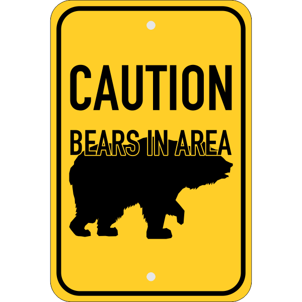 Vertical Bears In Area Sign