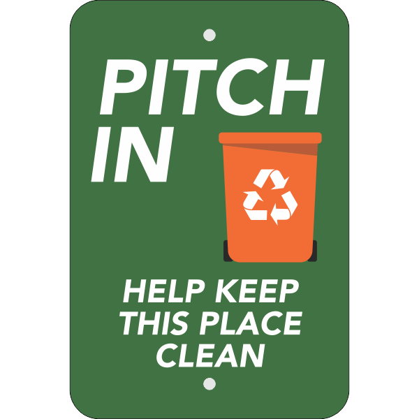 Vertical Pitch In Recycling Sign