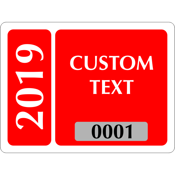 Clear Static Cling Parking Label | Design 102