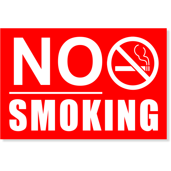 "Underlined NO SMOKING Sign | 4"" x 6"""