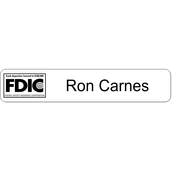 FDIC Desk Sign