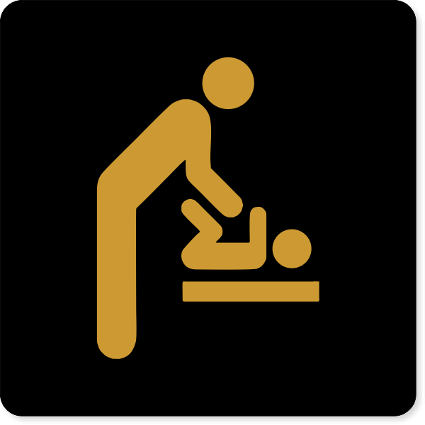 Male Icon Baby Changing Engraved Plastic Sign