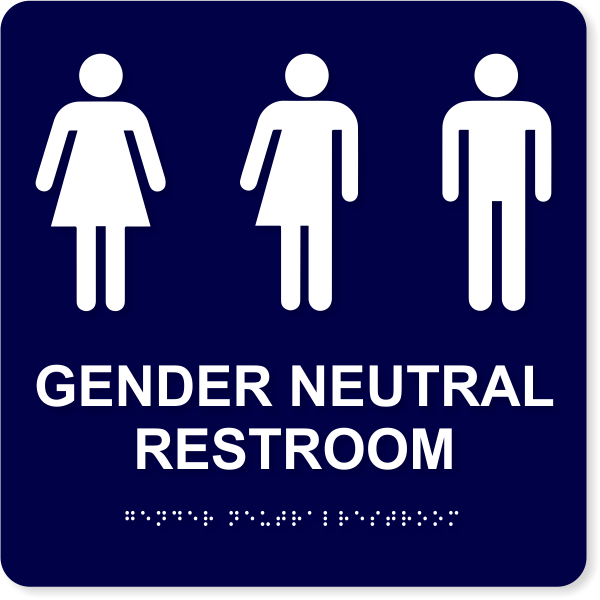 "ADA Compliant Gender Neutral Restroom Sign | 10"" x 10"""
