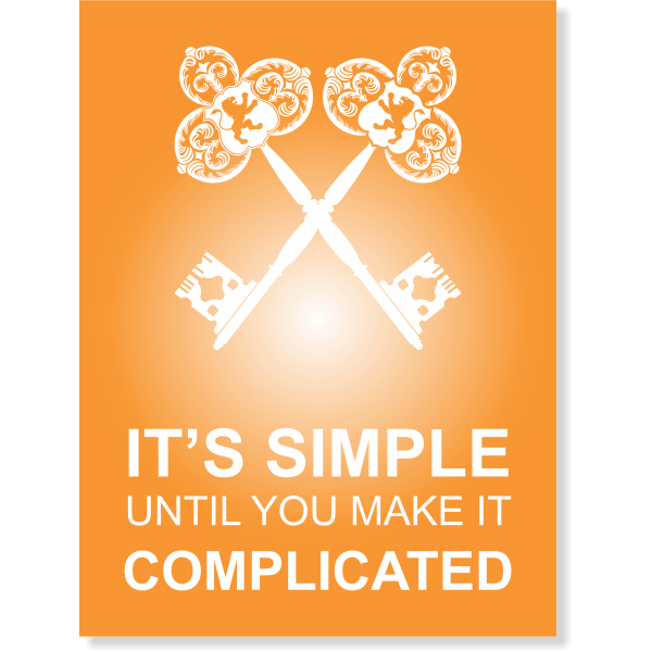 It's Simple Until Complicated Poster Sign