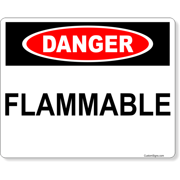 """Danger Flammable Full Color Sign 
